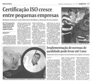Veja a cópia da matéria da Folha