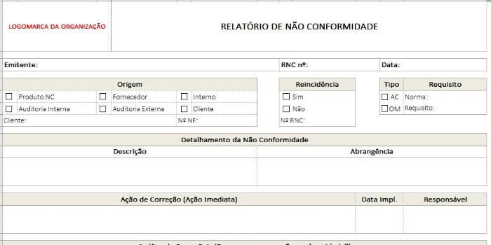 Não Conformidade-RNC